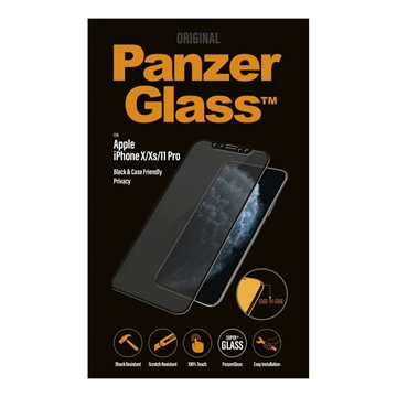 [OPEN BOX] PanzerGlass iPhone 11 Pro / Xs / X Black Privacy Glass Screen Protector