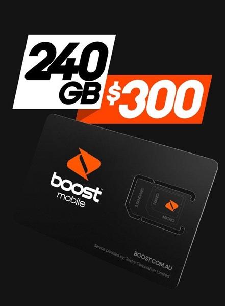 Boost Mobile $300 Recharge Voucher - Digital