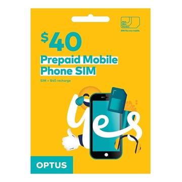 OPTUS $40 Prepaid Mobile Phone SIM