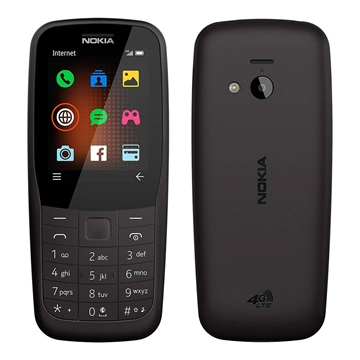 Nokia 220 (Keypad, Senior Phone, 4G/LTE Only) - Black