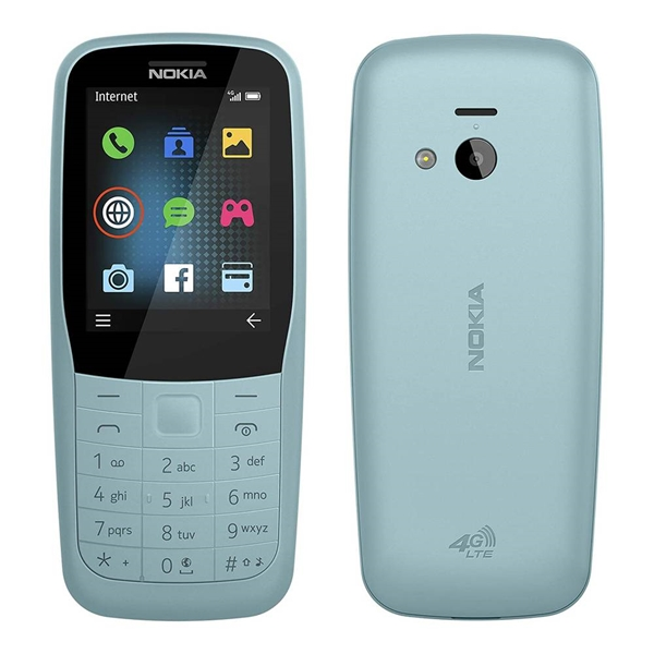 Nokia 220 (Keypad, Senior Phone, 4G/LTE Only) - Blue