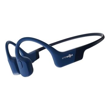 AfterShokz Aeropex Open-Ear Wireless Bone Conduction Headphones (Bluetooth, IP67 Rated) - Blue Eclipse