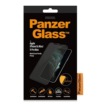 PanzerGlass iPhone 11 Pro Max / Xs Max Black Case Friendly Privacy Glass Screen Protector - Black