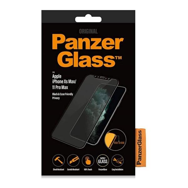 PanzerGlass iPhone 11 Pro Max / Xs Max Black Case Friendly Privacy Glass Screen Protector - Black