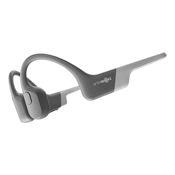 AfterShokz Aeropex Open-Ear Wireless Bone Conduction Headphones (Bluetooth, IP67 Rated) - Lunar Grey