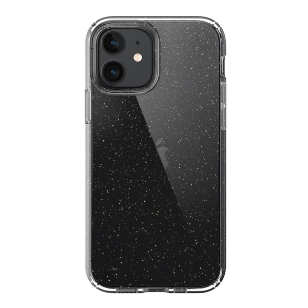Speck Presidio Perfect-Clear case for iPhone 12 / 12 Pro - Clear/Glitter