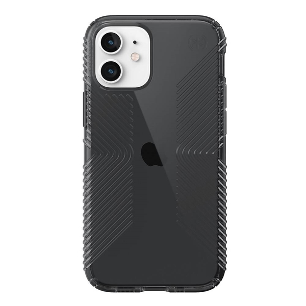 Speck Presidio Perfect-Clear with Grips case for iPhone 12 / 12 Pro - Obsidian