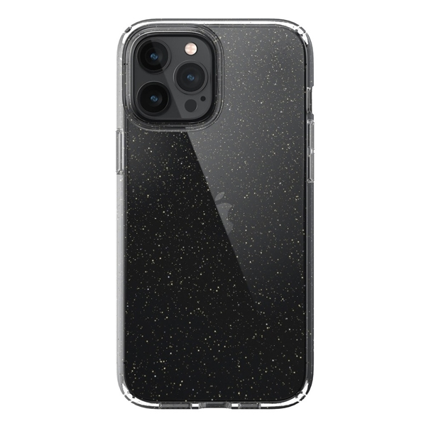 Speck Presidio Perfect-Clear case for iPhone 12 Pro Max - Clear/Glitter