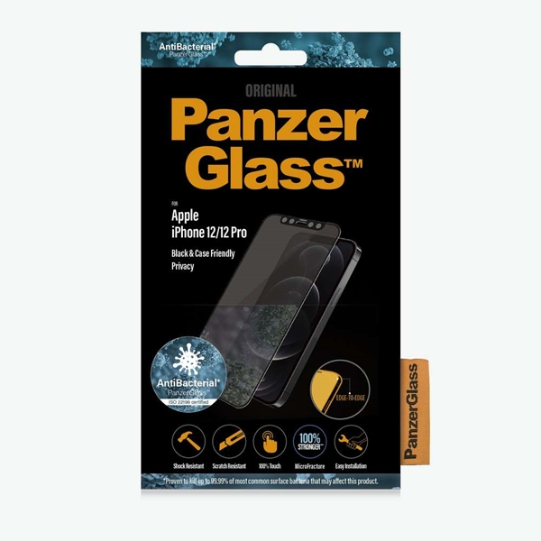 PanzerGlass Privacy Screen Protector for iPhone 12 / 12 Pro - Black