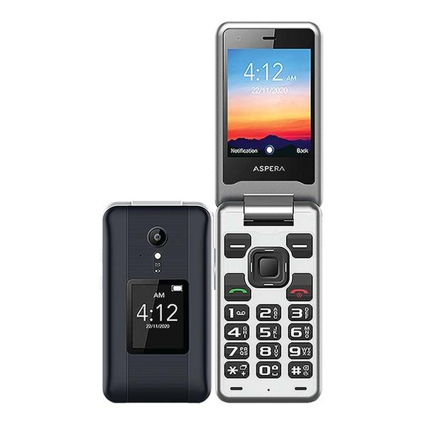 Aspera F42 (4G, Flip Phone, Senior Phone) - Titanium