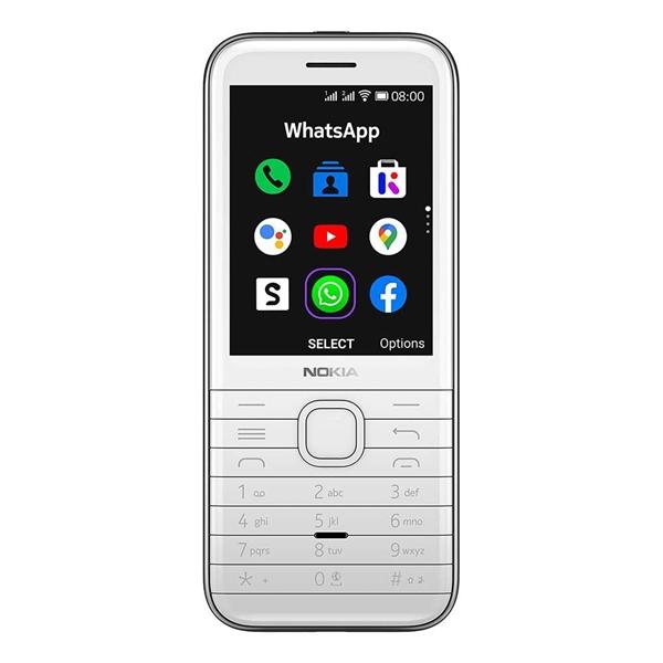 Nokia 8000 4G (Dual SIM 4G/3G, Keypad, Senior Phone, 4G/512M) - White