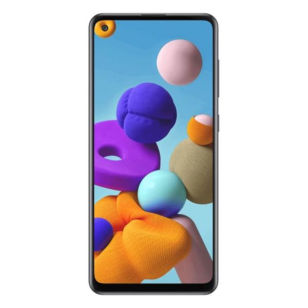 [Open Box] Telstra Samsung Galaxy A21s (4GX, Blue Tick,  128GB/6GB) - Black